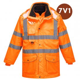 REFLEXNÍ BUNDA HI-VIS TRAFFIC 7v1 - RB06 / UNISEX